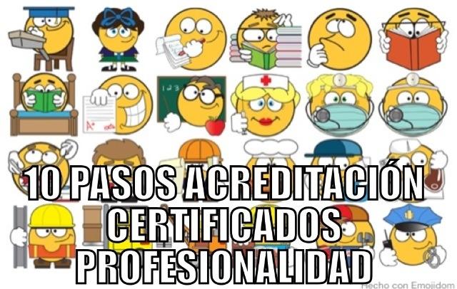 10 pasos para la Acreditación en Certificados de Profesionalidad en Teleformación/Online