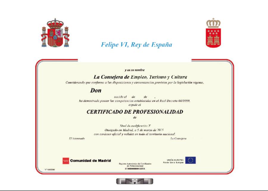 Los 10 Certificados de Profesionalidad más cortos y los 10 más largos enduración.